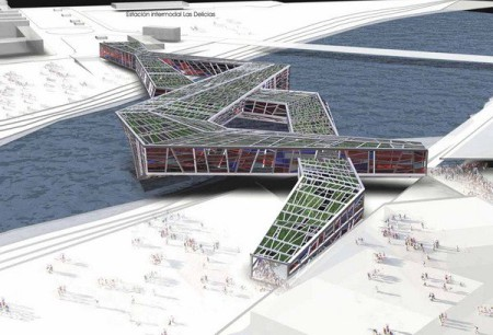 Propuesta puente-museo para la EXPO de Zaragoza 2008. LosdelDesierto