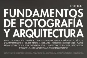 curso FUNDAMENTOS DE FOTOGRAFÍA Y ARQUITECTURA ( I edición)