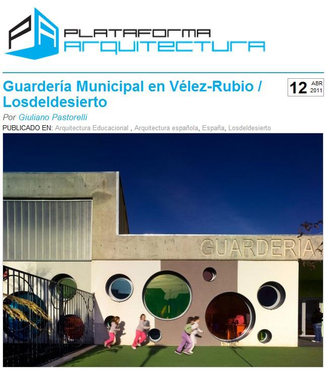 Guardería de Vélez-Rubio en PLATAFORMA ARQUITECTURA